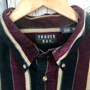 Men's Trader Bay Long Sleeve Corduroy Shirt (XL)